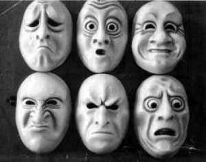 The many masks of feelings.